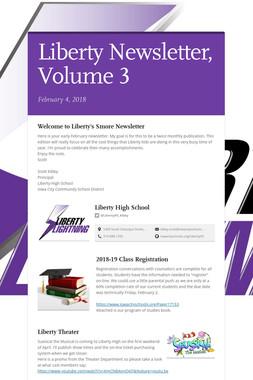 Liberty Newsletter, Volume 3
