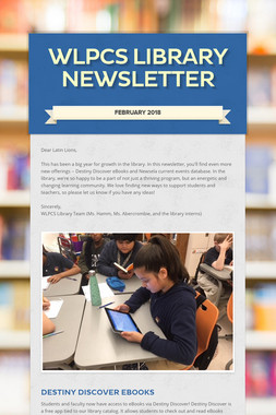 WLPCS Library Newsletter