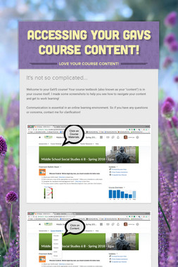 Accessing Your GaVS Course Content!