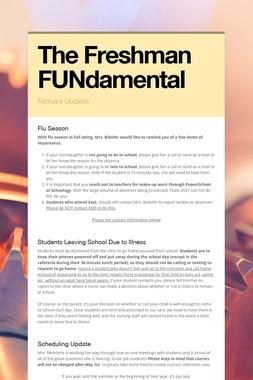 The Freshman FUNdamental