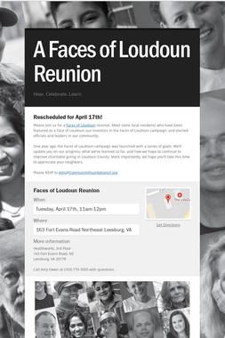 A Faces of Loudoun Reunion