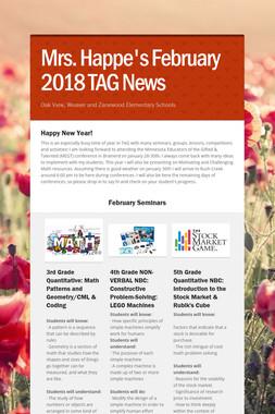 Mrs. Happe's February 2018 TAG News
