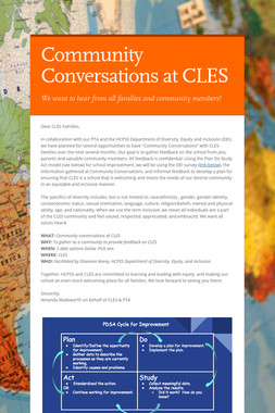 Community Conversations at CLES