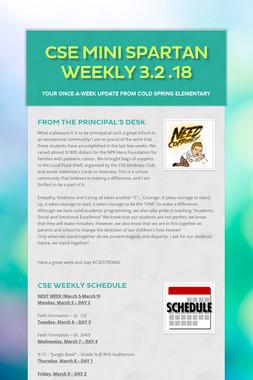 CSE Mini Spartan Weekly 3.2 .18