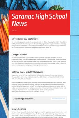 Saranac High School News