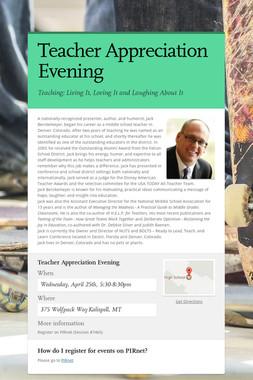 Teacher Appreciation Evening