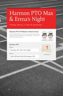 Harmon PTO Max & Erma's Night