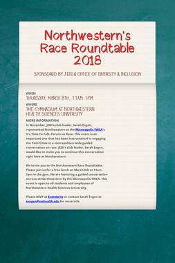 Northwestern's Race Roundtable 2018
