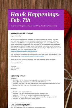 Hawk Happenings: Feb. 7th