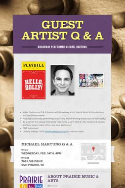 Guest Artist Q & A