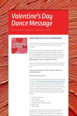 Valentine's Day Dance Message