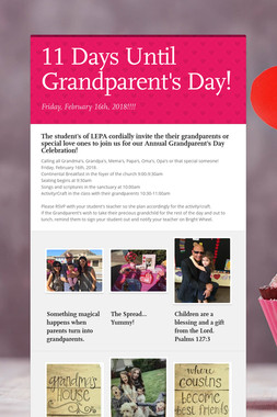 11 Days Until Grandparent's Day!