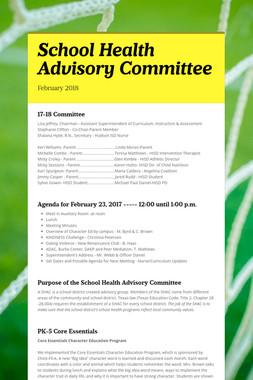 School Health Advisory Committee