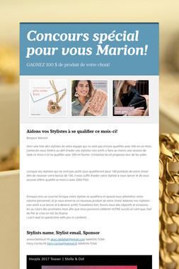 Concours spécial pour vous Marion!