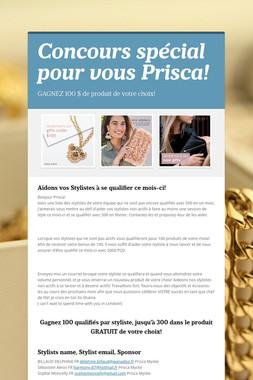Concours spécial pour vous Prisca!
