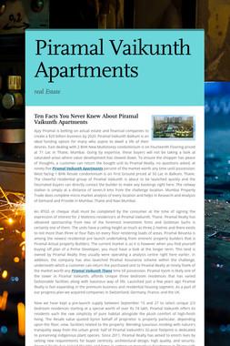 Piramal Vaikunth Apartments