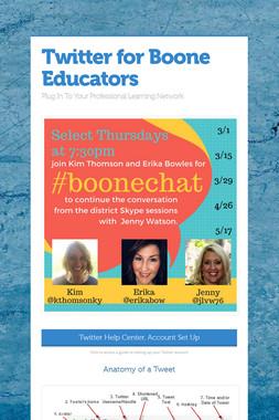 Twitter for Boone Educators