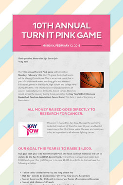 10th Annual Turn It Pink Game