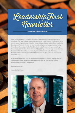 LeadershipFirst Newsletter