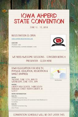 IOWA AHPERD STATE CONVENTION
