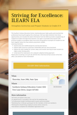 Striving for Excellence: ILEARN ELA