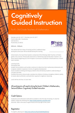 Cognitively Guided Instruction