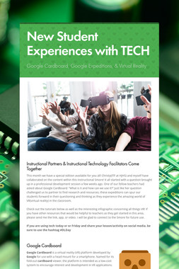 New Student Experiences with TECH