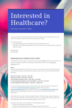 Interested in Healthcare?