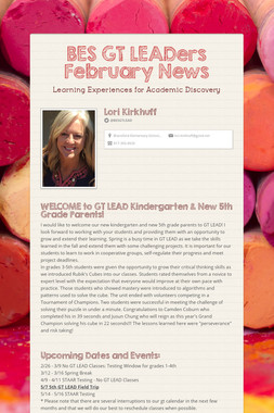 BES GT LEADers February News