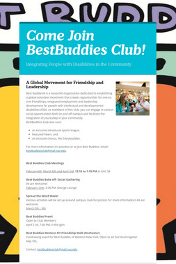 Come Join BestBuddies Club!
