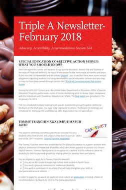 Triple A Newsletter-February 2018