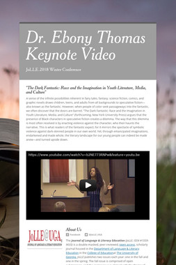 Dr. Ebony Thomas Keynote Video