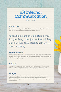 HR Internal Communication