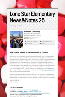 Lone Star Elementary News&Notes 25