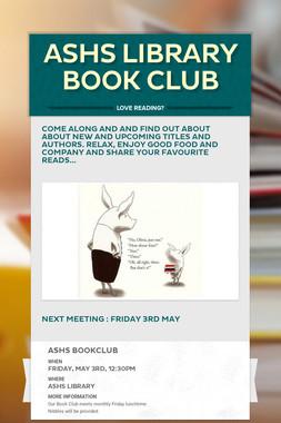 ASHS Library Book Club