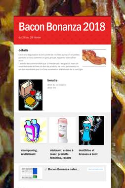Bacon Bonanza 2018