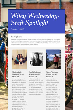 Wiley Wednesday-Staff Spotlight