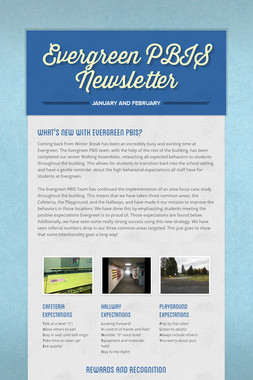 Evergreen PBIS Newsletter