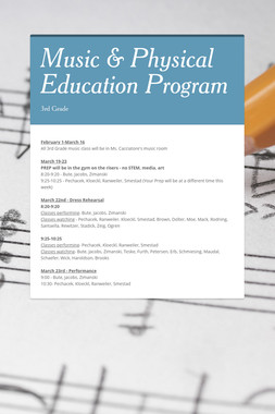 Music & Physical Education Program