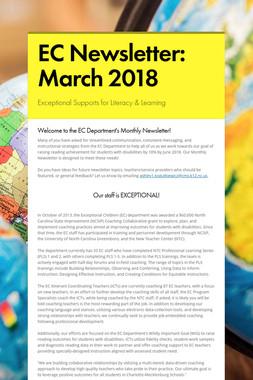 EC Newsletter: March 2018