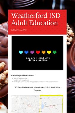 Weatherford ISD Adult Education
