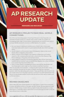 AP Research Update