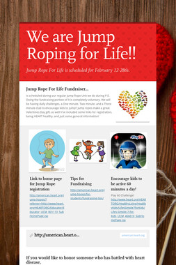 We are Jump Roping for Life!!
