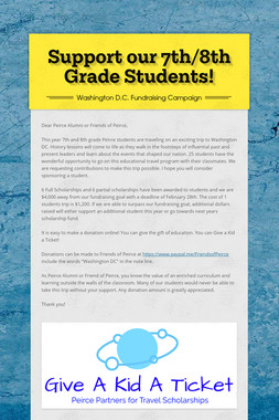 Support our 7th/8th Grade Students!