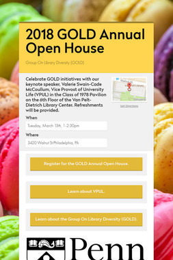 2018 GOLD Annual Open House