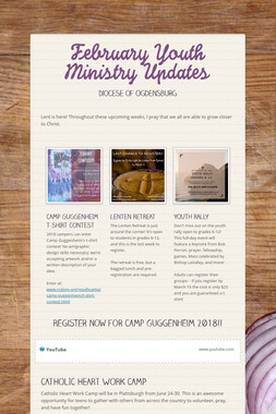 February Youth Ministry Updates