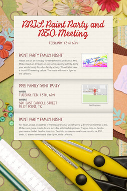 PPIS Paint Party and PTO Meeting