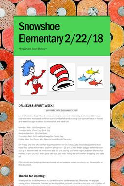 Snowshoe Elementary 2/22/18