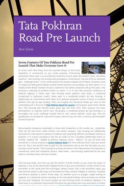 Tata Pokhran Road Pre Launch
