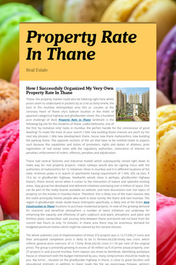 Property Rate In Thane